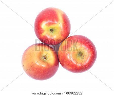 Ripe organic kanzi apple isolated on white background