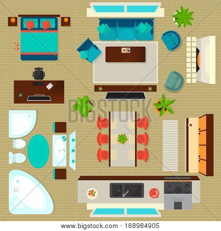 Top View Apartment Vector Photo Free Trial Bigstock