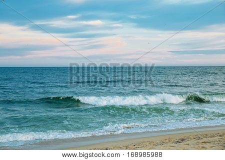 Sea and sky ocean sky wave tranquil, tranquil ocean, travel