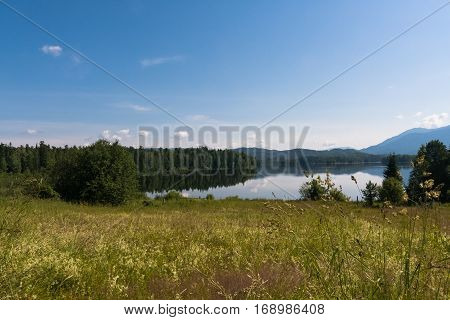 Beautiful siberian landscape. Tagasuk lake. Siberia, Russia