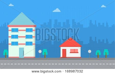 Vector art of house landscape collection stock