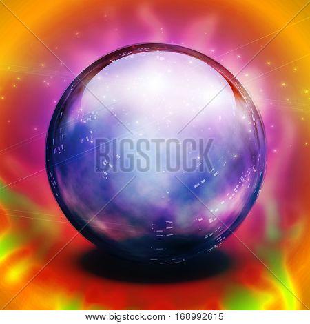 Crystal Ball  3D Render