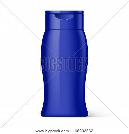 Violet Bottle Shampoo Packaging Isolated on White Background