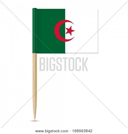 Flag of Algeria toothpick on white background 10eps