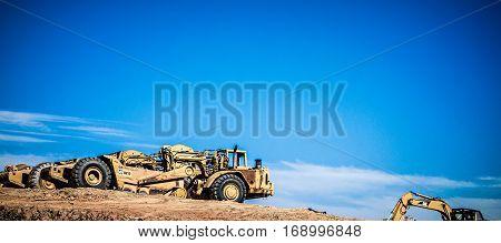 a heavy duty construction and hauleron site