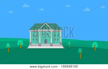 Collection stock of house landscape vector illustration