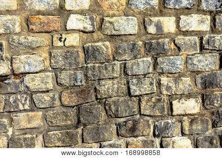 Natural stone wall as a digital background