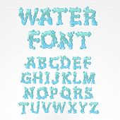 Water alphabet - find more fonts in my portfolio poster
