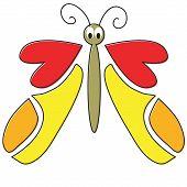 hand drawn cartoon butterfly poster