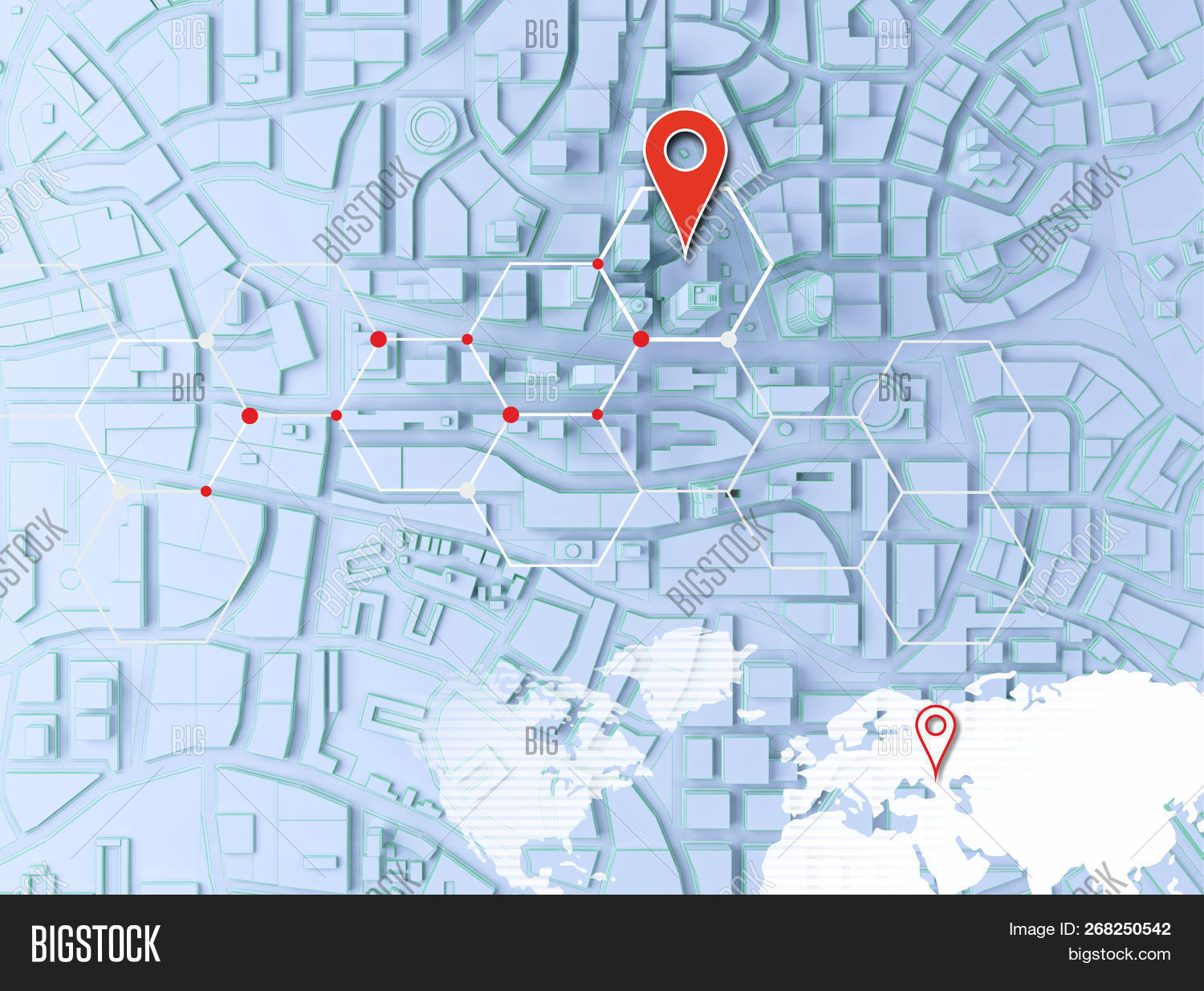 Low Poly City Top View Image & Photo (Free Trial) | Bigstock