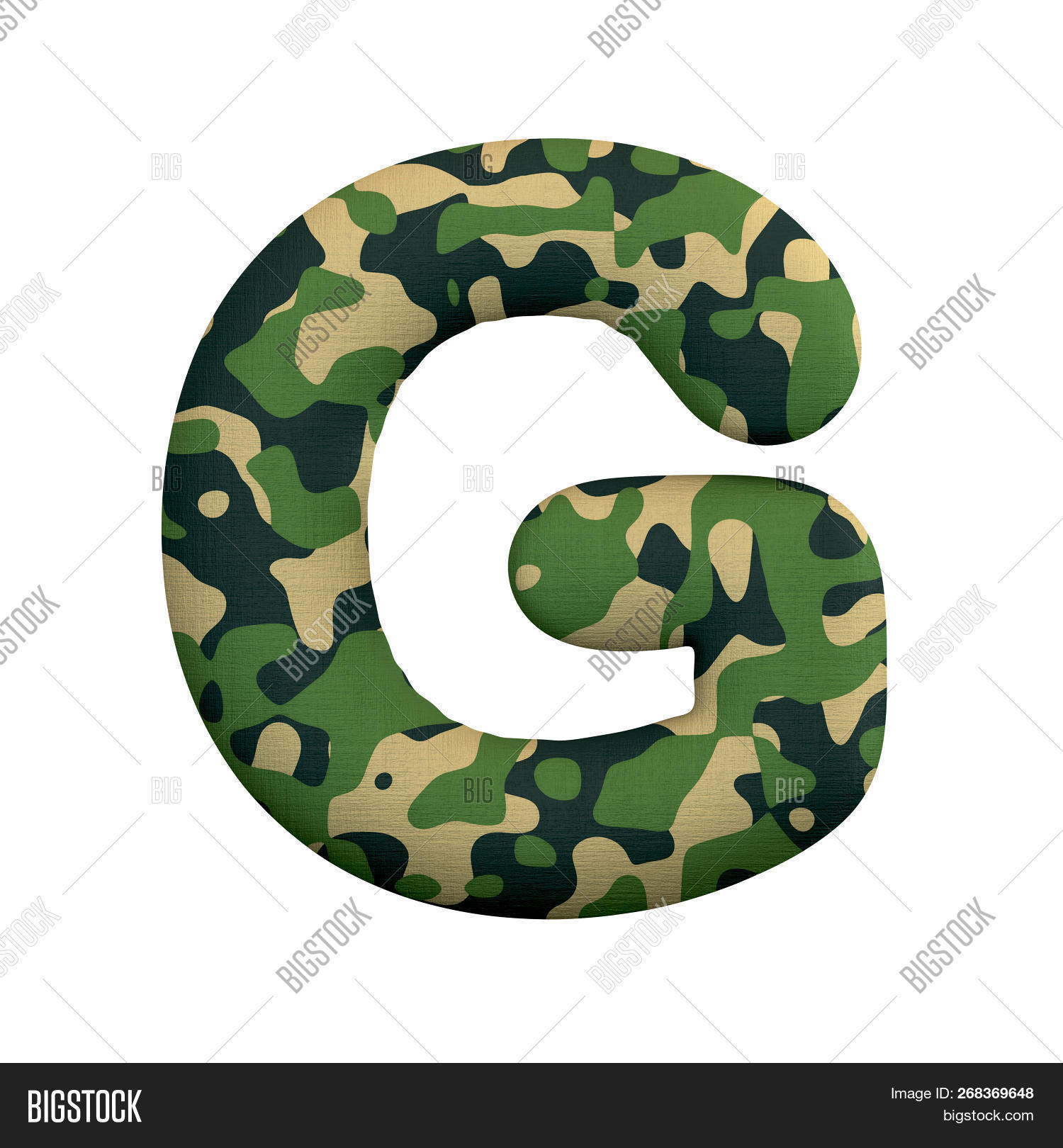Army Letter G - Large Image & Photo (Free Trial) | Bigstock