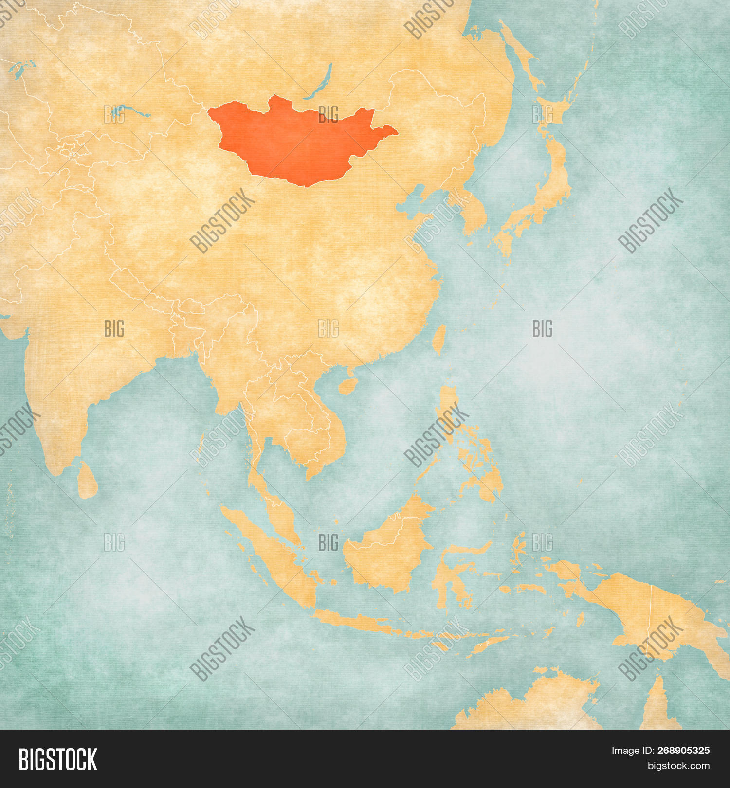 Map Of East And Southeast Asia.Mongolia On Map East Image Photo Free Trial Bigstock