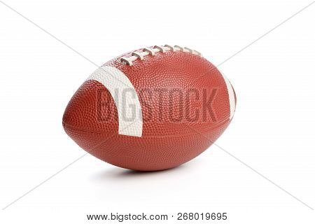 American Football Isolated On White , Close Up.