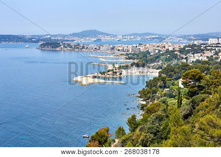 View Of The Port Of Toulon, Seyne-sur-mer And Seaside Of Rade Des Vignettes  From Cap Brun