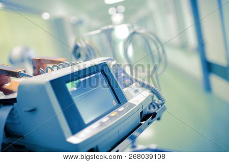 Medical Monitor With The Flatline On It As A Concept Of A Patient Clinical Death.