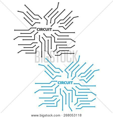 Computer Circuit Motherboard. Electronic Circuit Vector Background. Technology Circuit Pattern