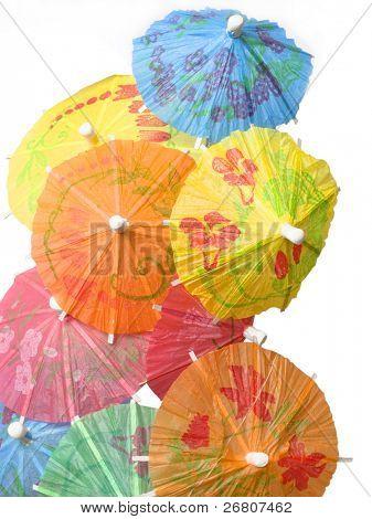 cocktail umbrellas poster