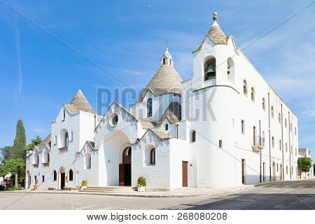 Alberobello, Apulia, Italy - Visiting The Famous Traditional Church Of Alberobello