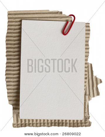 paper note on cardboard