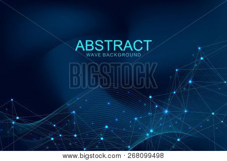 Futuristic Abstract Vector Background Blockchain Technology. Deep Web. Peer To Peer Network Business