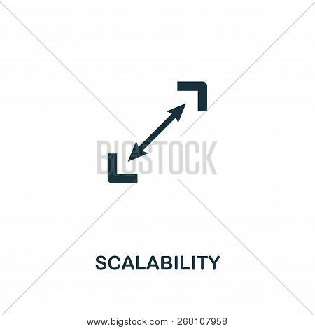 Scalability Icon. Premium Style Design From Startup Icon Collection. Ui And Ux. Pixel Perfect Scalab