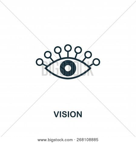 Vision Icon. Premium Style Design From Startup Icon Collection. Ui And Ux. Pixel Perfect Vision Icon