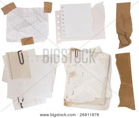 Sammlung von Papiergeld mit klebrigen Bänder
