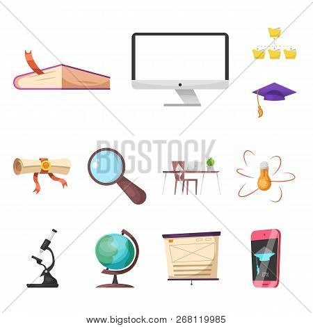 Vector Design Of Education And Learning Symbol. Set Of Education And School Stock Symbol For Web.