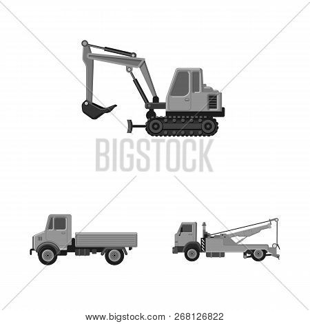 Vector Illustration Of Build And Construction Sign. Collection Of Build And Machinery Stock Vector I