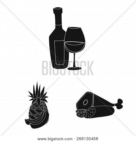 Vector Illustration Of Food And Drink Symbol. Collection Of Food And Store Stock Symbol For Web.