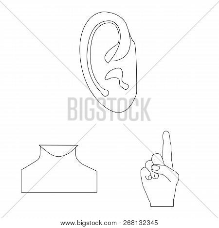 Vector Design Of Human And Part Icon. Set Of Human And Woman Stock Vector Illustration.