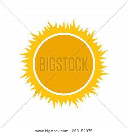 Sun Icon, Sun Vector Isolated Summer Icon Design. Vector Yellow Sun Symbol. Vector Sun Element
