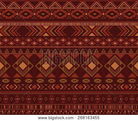 Navajo American Indian Pattern Tribal Ethnic Motifs Geometric Vector Background. Doodle Native Ameri
