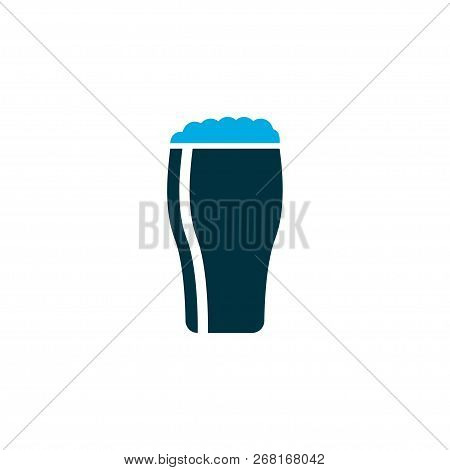 Glass of beer icon colored symbol. Premium quality isolated draught element in trendy style. poster