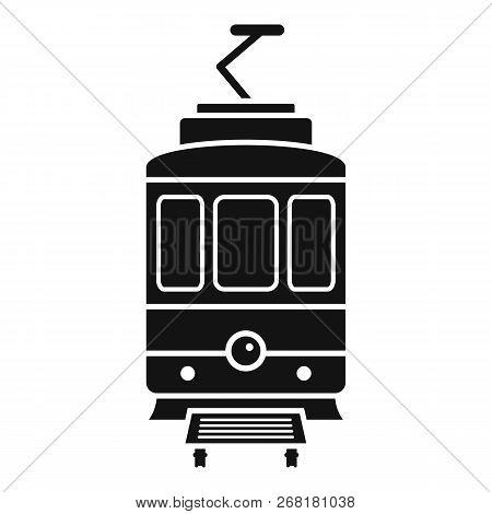 City Tramcar Icon. Simple Illustration Of City Tramcar Vector Icon For Web Design Isolated On White