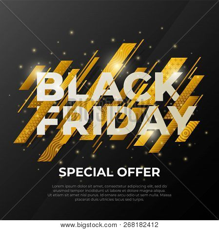 Black Friday Sale Banner. Social Media Web Banner For Shopping, Sale, Product Promotion. Template In