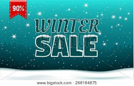 Final Winter Sale Concept Banner. Realistic Illustration Of Final Winter Sale Vector Concept Banner