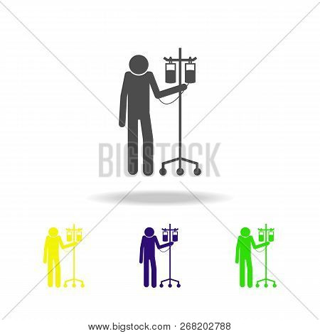Patient With A Capillary Icon. Elements Of Patients In The Hospital Icon. Premium Quality Graphic De