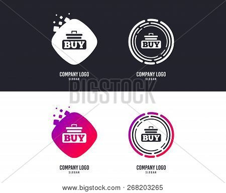 Logotype Concept. Buy Sign Icon. Online Buying Cart Button. Logo Design. Colorful Buttons With Icons
