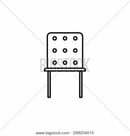 Chair, Furniture 40 Outline Icon. Signs And Symbols Outline Icon Can Be Used For Web, Logo, Mobile A