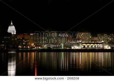 Madison Skyline At Night
