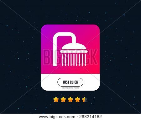Shower Sign Icon. Douche With Water Drops Symbol. Web Or Internet Icon Design. Rating Stars. Just Cl