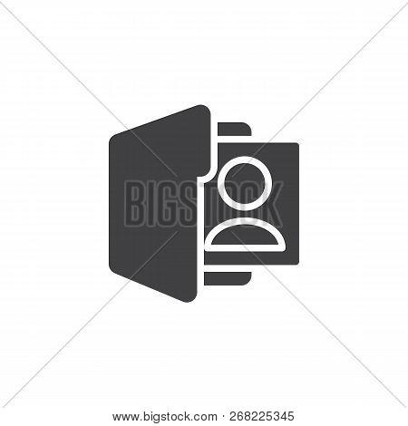 User Folder Vector Icon. Filled Flat Sign For Mobile Concept And Web Design. Profile Folder Simple S
