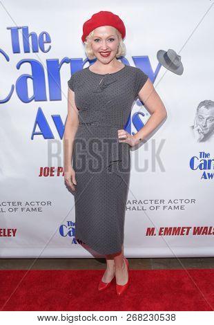 LOS ANGELES - OCT 28:  Jessica Sugar Kiper arrives for the Carney Awards 2018 on October 28, 2018 in Santa Monica, CA