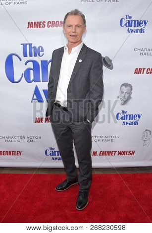 LOS ANGELES - OCT 28:  Bruce Greenwood arrives for the Carney Awards 2018 on October 28, 2018 in Santa Monica, CA