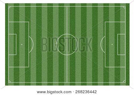 Green Natural Grass Of A Soccer Field
