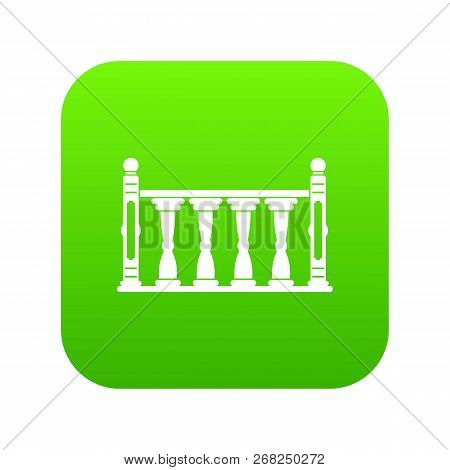 Balustrade Icon Digital Green For Any Design Isolated On White Vector Illustration