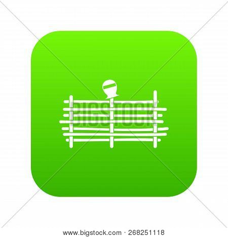 Palisade Icon Digital Green For Any Design Isolated On White Vector Illustration