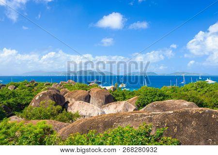 Virgin Gorda, British Virgin Islands at the boulders of The Baths.