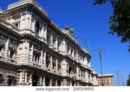 The Palace Of Justice, The Seat Of The Supreme Court Of Cassation And The Judicial Public Library, R